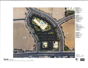 Emerald Center Hotel Site color site plan